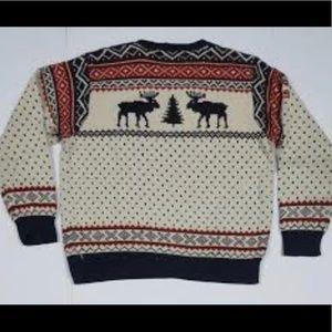 Vintage Ralph Lauren Reindeer Sweater, Scarf & Hat